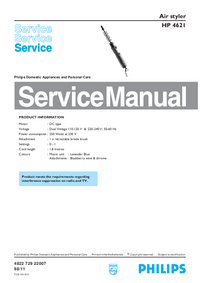 Manual de servicio Philips HP 4621