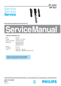 Manual de serviço Philips HP 4631