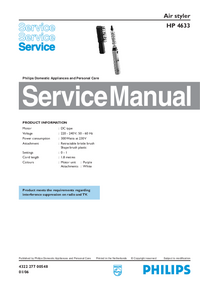 Service Manual Philips HP 4633