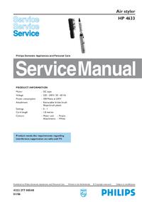 Manual de servicio Philips HP 4633