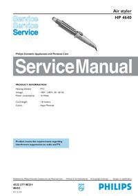Manuale di servizio Philips HP 4640