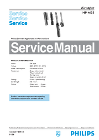 Service Manual Philips HP 4635