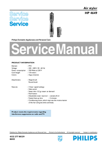 Service Manual Philips HP 4649
