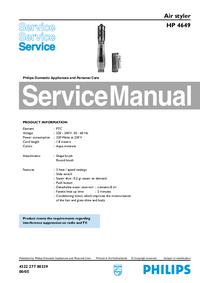 manuel de réparation Philips HP 4649