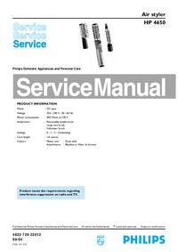 manuel de réparation Philips HP 4650