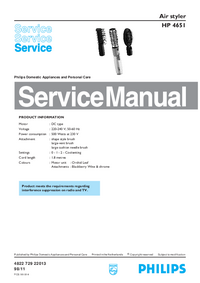 Service Manual Philips HP 4651