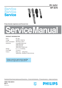Serviceanleitung Philips HP 4670