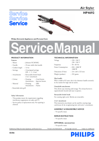 Manual de servicio Philips HP 4692