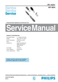 Servicehandboek Philips HP 4694