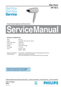 Manual de servicio Philips HP 4812