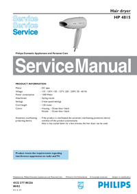 Instrukcja serwisowa Philips HP 4815