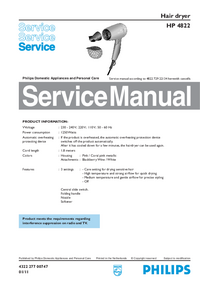 Manual de servicio Philips HP 4822