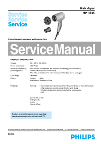 Manual de servicio Philips HP 4825