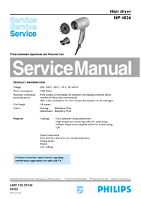 Service Manual Philips HP 4826