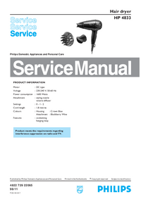 Service Manual Philips HP 4833