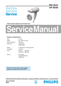 Service Manual Philips HP 4834D