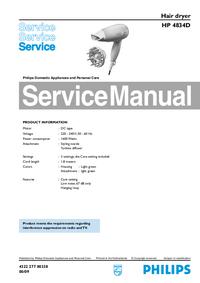 Serviceanleitung Philips HP 4834D