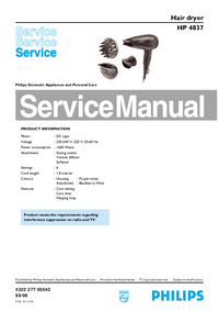 Instrukcja serwisowa Philips HP 4837
