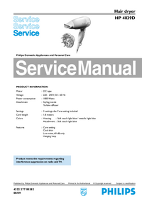 Service Manual Philips HP 4839D