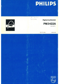 Serwis i User Manual Philips PM2422A