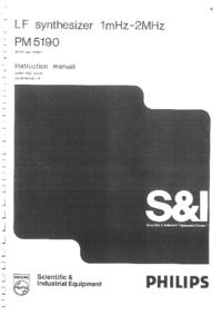 Servizio e manuale utente Philips PM5190