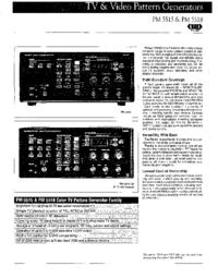 Fiche technique Philips PM 5518