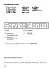 Manual de servicio Philips VR830/58