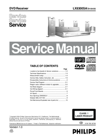Service Manual Philips LX8300SA/ 01/04/05