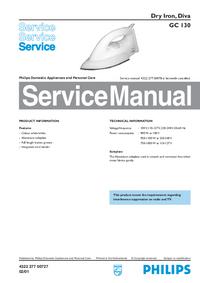 Servicehandboek Philips Diva GC 130
