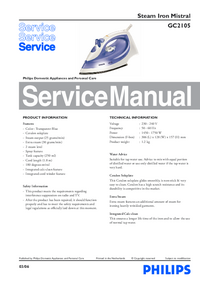 Service Manual Philips Mistral GC2105
