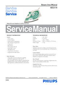 Service Manual Philips Mistarl GC2110