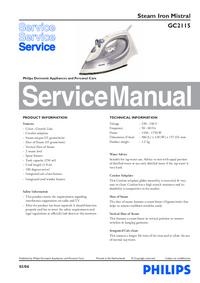 Instrukcja serwisowa Philips Mistral Gc2115
