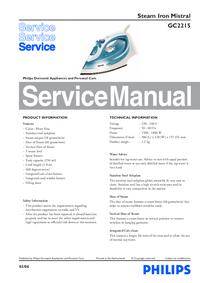 Servicehandboek Philips Mistral GC2215