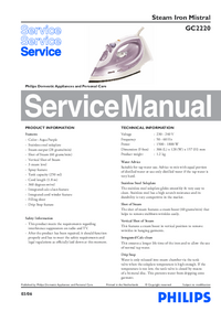 Service Manual Philips Mistral 2220