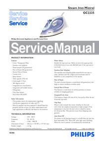 Servicehandboek Philips Mistral GC2225