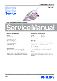 Service Manual Philips Elance GC3005
