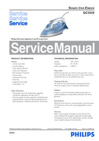 Manual de serviço Philips Elance GC3020