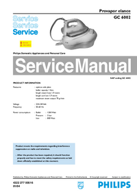 Service Manual Philips Elance GC 6002