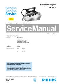 Manuale di servizio Philips new profi GC 6010