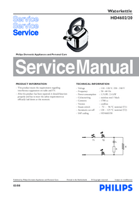 Manual de servicio Philips HD4602/20