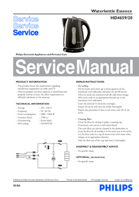 Service Manual Philips Essence HD4659/20