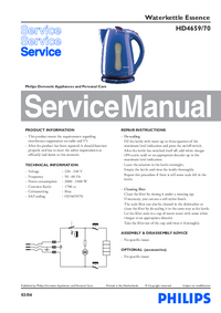 Service Manual Philips Essence HD4659/70