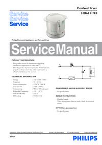 Instrukcja serwisowa Philips HD6111/10