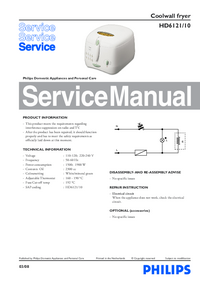 Manual de servicio Philips HD6121/10
