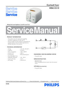 Service Manual Philips HD6123/10