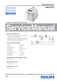Manual de servicio Philips HD6140/16