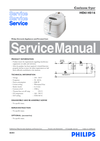 Serviceanleitung Philips HD6140/16