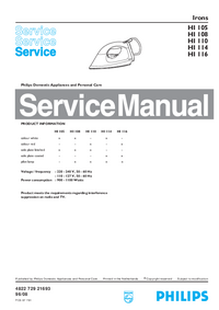 Manual de servicio Philips HI 116