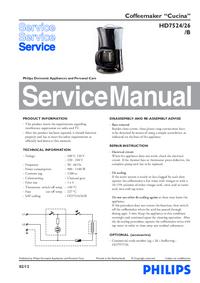 Instrukcja serwisowa Philips Cucina HD7524/26/B
