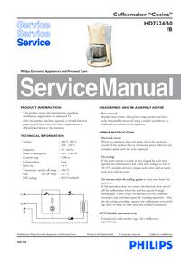Instrukcja serwisowa Philips Cucina HD7524/60/B